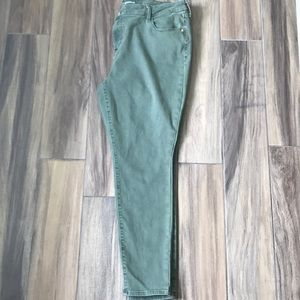 Old Navy Olive green rockstar jeans
